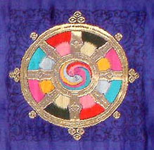 The Eight Spoked Tibetan Dharma Wheel